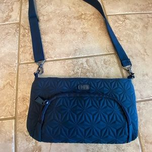 LUG Flyer Crossbody Purse Quilted Peacock Teal